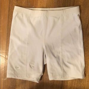 Under Armour White Spandex Shorts Small